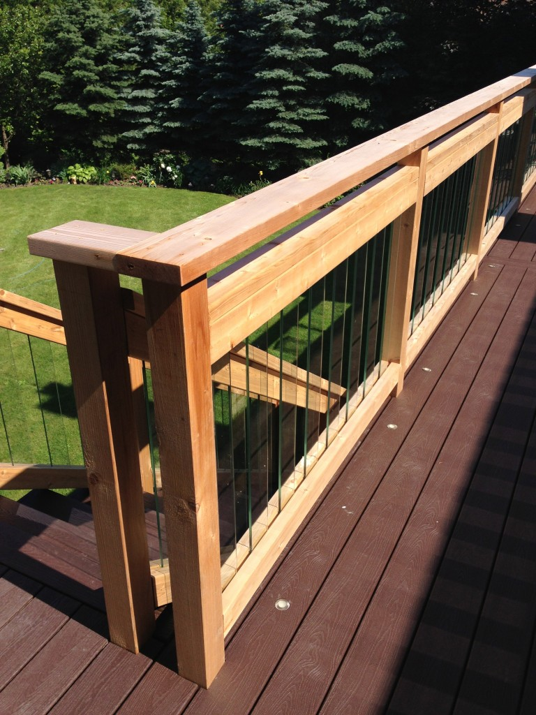 Glass Pickets on a Trex Deck